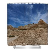 Badlands View From A Trail Shower Curtain
