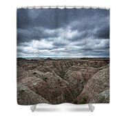 Badlands White River Valley  Shower Curtain