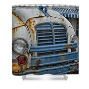 Badly Bruised Divco Shower Curtain