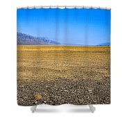 Badwater Basin In Death Valley Shower Curtain
