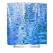 Baffling Blue Water Shower Curtain