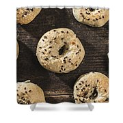Bagels Shower Curtain
