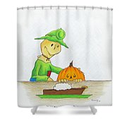 Baggs And Boo Canned Pumpkin Shower Curtain