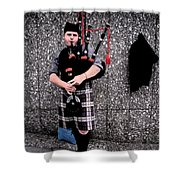 Bagpipe Shower Curtain