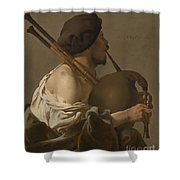 Bagpipe Player Shower Curtain