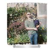 Bagpiper In Glastonbury Shower Curtain