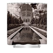 Bahai Temple Reflecting Pool Shower Curtain