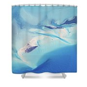 Bahama Banks Aerial Seascape Shower Curtain