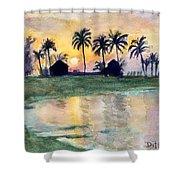 Bahama Palm Trees Shower Curtain