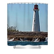 Bahamas Lighthouse Shower Curtain