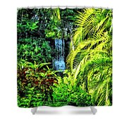 Bahamas - Tropical Waterfall Shower Curtain