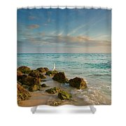Bahia Honda Shoreline Shower Curtain