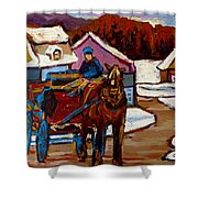Baie Saint Paul Quebec Country Scene Shower Curtain