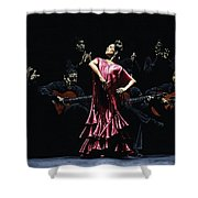 Bailarina Orgullosa Del Flamenco Shower Curtain