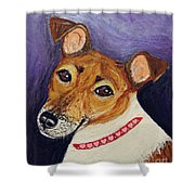 Bailey Terrier Mix Shower Curtain