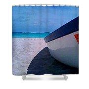 Bajan Boat Shower Curtain