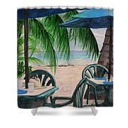 Bajan Paradise Shower Curtain