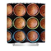Baked Cupcakes Shower Curtain