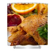 Baked Duck Shower Curtain