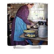 Baker - Preparing Dinner Shower Curtain