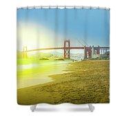 Baker Beach In San Francisco Shower Curtain