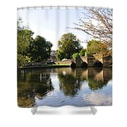 Bakewell Bridge And The River Wye Shower Curtain