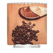 Baking Desserts With Chocolate Shower Curtain