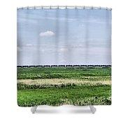 Bakken Crude On Rail Shower Curtain