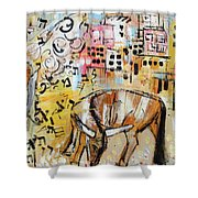 Balaams Donkey Sees The Angel 201762 Shower Curtain