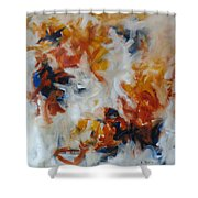 Balance And Harmony Abstract Painting Shower Curtain
