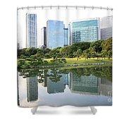 Balance In Tokyo Shower Curtain