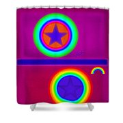 Balance Of Power Shower Curtain
