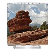Balance Rock Shower Curtain