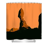 Balance Rock Shower Curtain