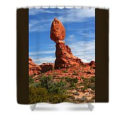 Balanced Rock In Arches National Park, Moab, Utah Shower Curtain