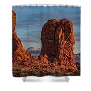 Balanced Rock Sunset Shower Curtain