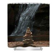 Balanced Stones Waterfall Shower Curtain