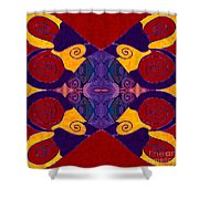 Balancing Affections Abstract Bliss Art By Omashte Shower Curtain