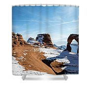 Delicate Arch Wide Shower Curtain