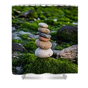 Balancing Zen Stones By The Sea II Shower Curtain