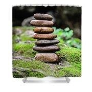 Balancing Zen Stones IIi Shower Curtain