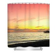 Balboa Beach Pastels Shower Curtain