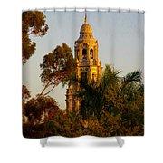 Balboa Park Bell Tower Shower Curtain
