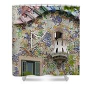 Balcionies Of Casa Batllo In Barcelona, Spain Shower Curtain