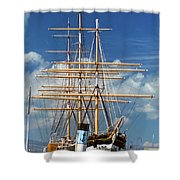 Balclutha Mast And Rigging Shower Curtain