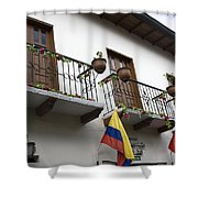 Balconies And Flags Shower Curtain