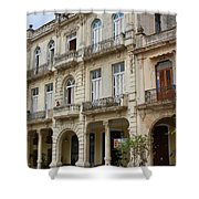 Balconies On Old Historic Buildings Shower Curtain