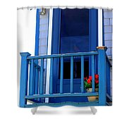 Balcony And Flower Pot Shower Curtain