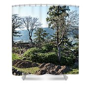 Balcony At Hood River Shower Curtain