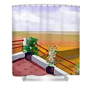 Balcony Shower Curtain